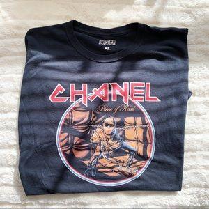 Bleach Goods ✨ Chanel Piece of Karl Tee